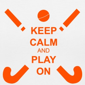 Field Hockey Keep Calm & Play On - Women's V-Neck T-Shirt