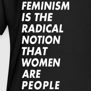 feminism is the radical notion that women are peop - Women's Flowy T-Shirt