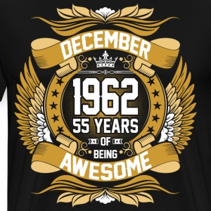 December 1962 55 Years Of Being Awesome T-Shirts - Men's Premium T-Shirt
