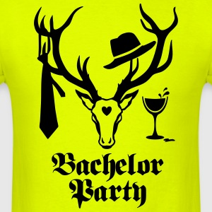 Deer Gentlemen Bachelor Groom Wine Team T-Shirt - Men's T-Shirt