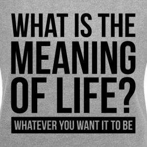WHAT IS THE MEANING OF LIFE? T-Shirts - Women´s Rolled Sleeve Boxy T-Shirt