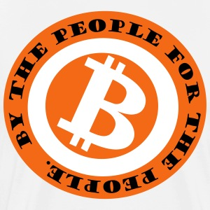 Bitcoin for the people by the people - Men's Premium T-Shirt