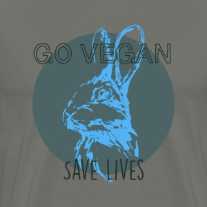 Go vegan save lives T-Shirts - Men's Premium T-Shirt