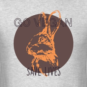 Go vegan save lives T-Shirts - Men's T-Shirt