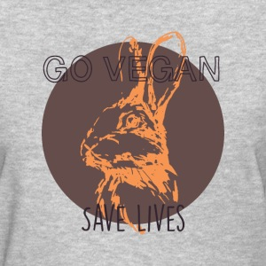 Go vegan save lives T-Shirts - Women's T-Shirt