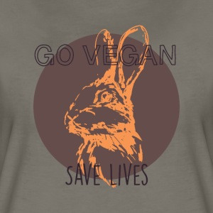 Go vegan save lives T-Shirts - Women's Premium T-Shirt
