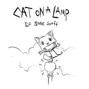 Original Cat on a Lamp