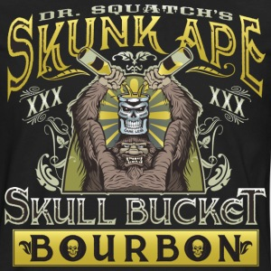 Dr. Squatch's Skunk Ape Skull Bucket Bourbon - Men's Premium Long Sleeve T-Shirt