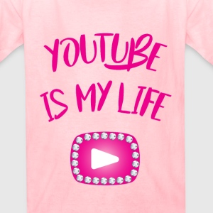 Always Alyssa (youtube is my life) (rhinestones) - Kids' T-Shirt