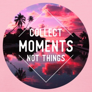Collect moments not things T-Shirts - Women's V-Neck T-Shirt