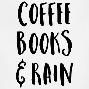 Coffee, Books & Rain Quote Aprons - Adjustable Apron
