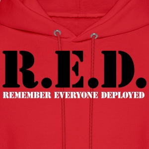 RED Everyone Deployed 2c Hoodies - Men's Hoodie