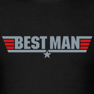 Best Man (Top Gun Style) - Men's T-Shirt