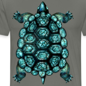 Turquoise Turtle - Men's Premium T-Shirt