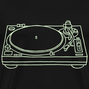 Record player (glows in dark) - Men's Premium T-Shirt