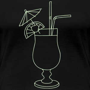 Cocktail (glows in dark) - Women's Premium T-Shirt