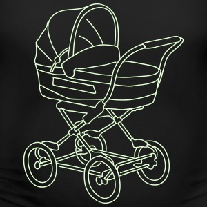 Baby stroller (glows in dark) - Women's Maternity T-Shirt