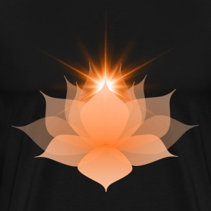 Orange Chakra Lotus - Men's Premium T-Shirt