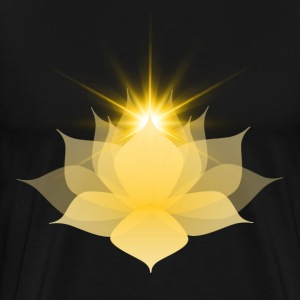 Yellow Chakra Lotus - Men's Premium T-Shirt