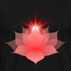 Red Chakra Lotus - Men's Premium T-Shirt