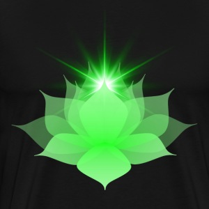 Green Chakra Lotus - Men's Premium T-Shirt