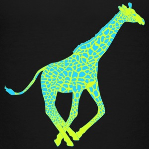 Giraffe blue yellow Kids' Shirts - Kids' Premium T-Shirt