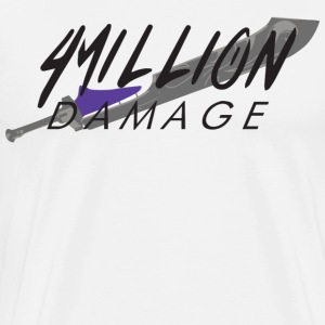 4 Million Damage Dark-Drinker (Black Text) - Men's Premium T-Shirt