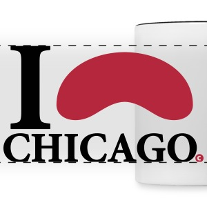 I Love Chicago Cloud Gate Mugs & Drinkware - Panoramic Mug