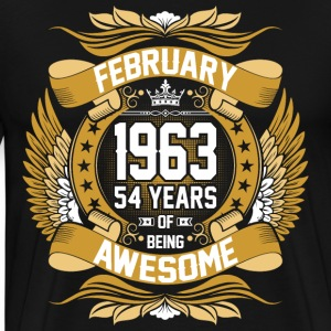 February 1963 54 Years Of Being Awesome T-Shirts - Men's Premium T-Shirt