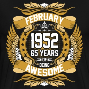 February 1952 65 Years Of Being Awesome T-Shirts - Men's Premium T-Shirt