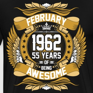 February 1962 55 Years Of Being Awesome T-Shirts - Men's Premium T-Shirt
