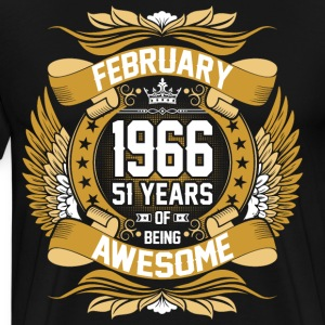 February 1966 51 Years Of Being Awesome T-Shirts - Men's Premium T-Shirt