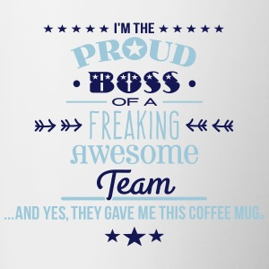 Freaking Awesome Team - Boss Edition Mugs & Drinkware - Contrast Coffee Mug