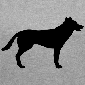 Dog, German Shepherd T-Shirts - Women´s Roll Cuff T-Shirt