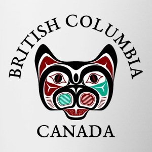 British Columbia Haida Kitty Mugs & Drinkware - Contrast Coffee Mug