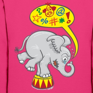 Circus Elephant Saying Bad Words Hoodies - Women's Hoodie