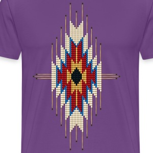 Southwest Native American Sunburst - Men's Premium T-Shirt