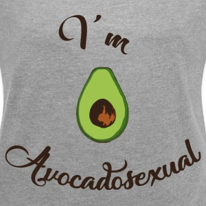 Avocadosexual T-Shirts - Women´s Rolled Sleeve Boxy T-Shirt