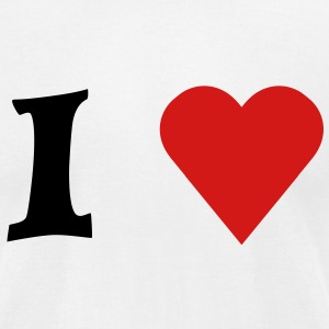 I heart - Men's T-Shirt by American Apparel