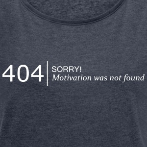 404 not found T-Shirts - Women´s Rolled Sleeve Boxy T-Shirt