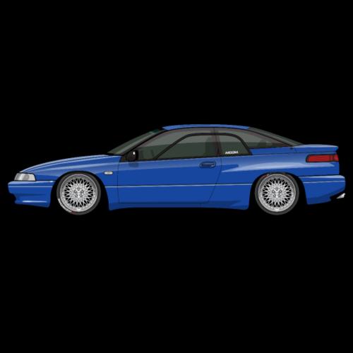 Low Subaru SVX Laguna Blue on AG Wheels