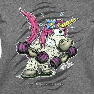 train like a unicorn Long Sleeve Shirts - Women's Wideneck Sweatshirt