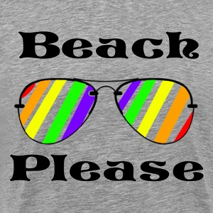 Beach Please - Rainbow Aviators - Men's Premium T-Shirt