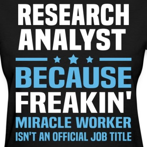 Research Analyst - Women's T-Shirt