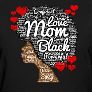 Mother's Day Afro Art for Black Women Moms - Women's T-Shirt