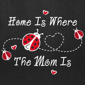 Ladybug Home Is Mom WHT Bags & backpacks - Tote Bag