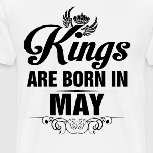 Kings Are Born In May Tshirt T-Shirts - Men's Premium T-Shirt