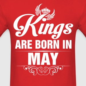Kings Are Born In May Tshirt T-Shirts - Men's T-Shirt