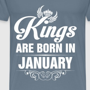 Kings Are Born In January Tshirt T-Shirts - Men's Premium T-Shirt