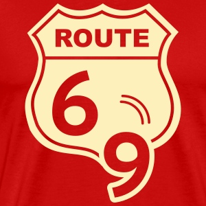 Route 66 Hell Highway 69 T-Shirts - Men's Premium T-Shirt